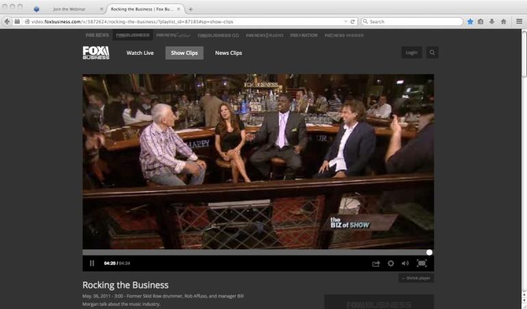Rob Affuso from Skid Row & Bill Messinetti on Fox Business