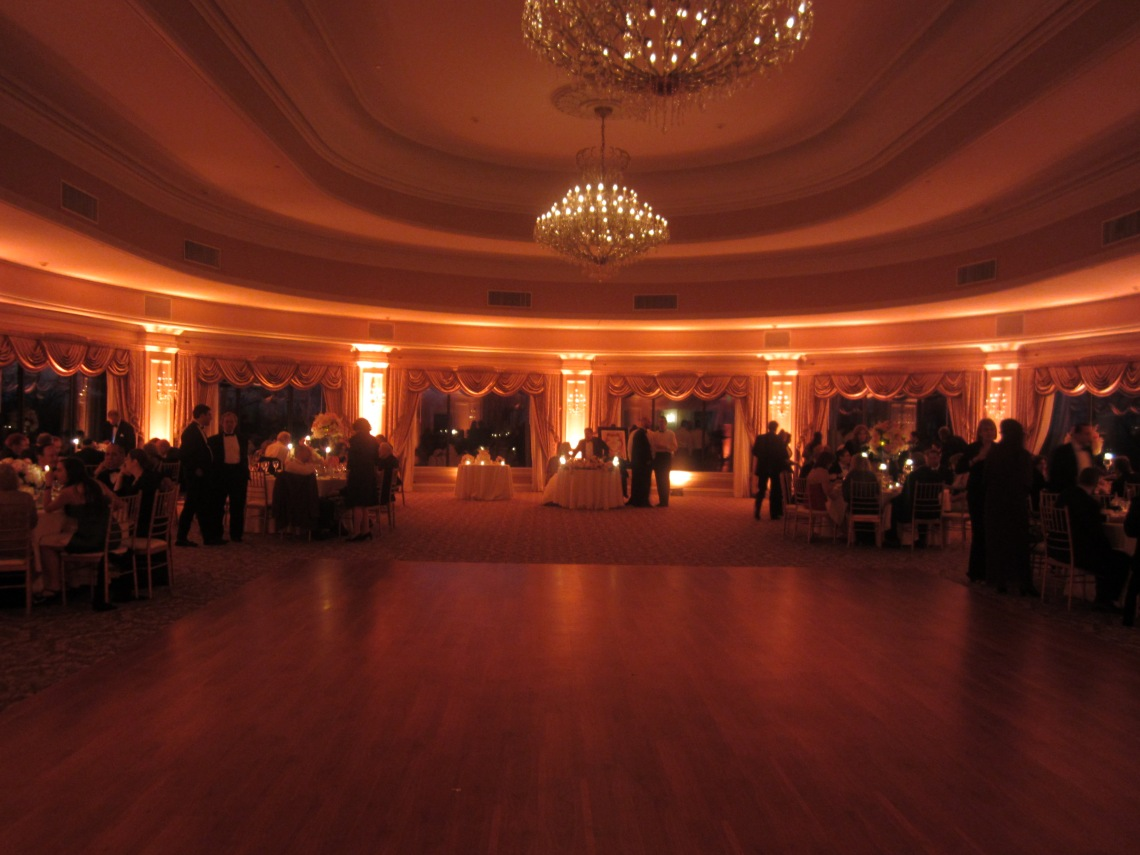 Oheka Castle wireless LED ballroom perimeter lighting