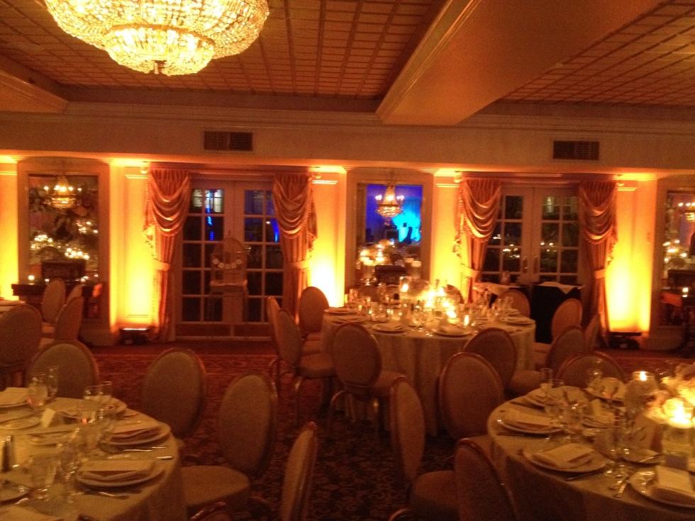 Ballroom lighting at Olde Mill Inn in Basking Ridge, NJ by NY Orchestras