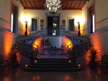 Oheka Castle Grand Staircase lighting