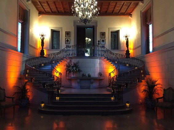 Oheka Castle Grand Staircase lighting