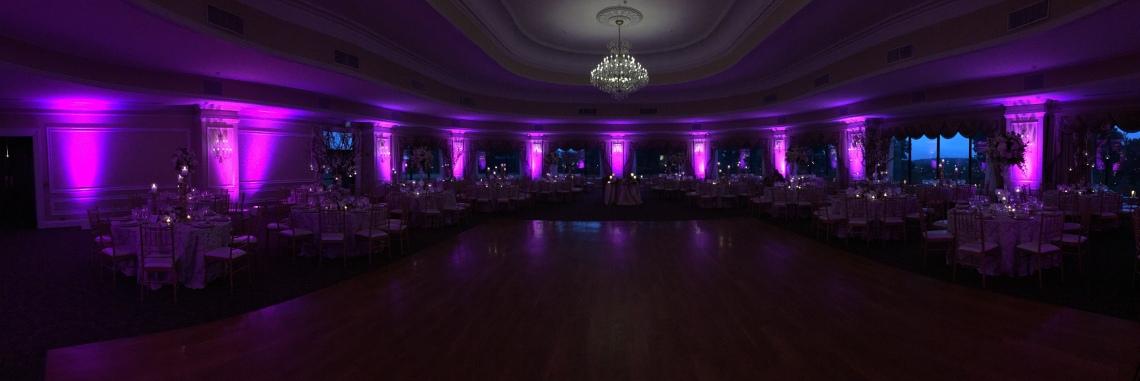 Oheka Castle event wedding uplighting
