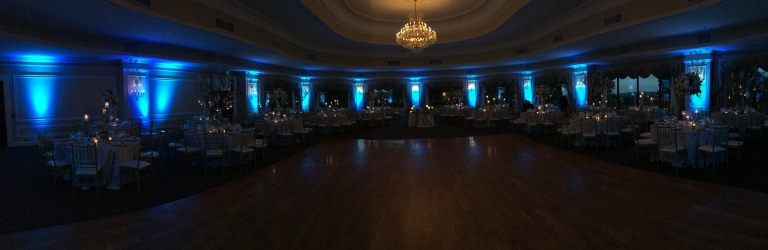 Oheka Castle event wedding uplighting