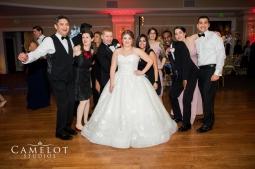 Christine our beautiful bride on Oheka Castle dance floor