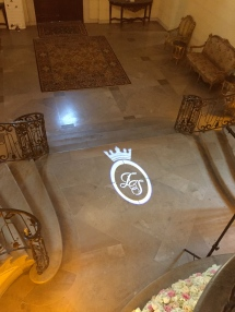 bride & groom logo-gobo light