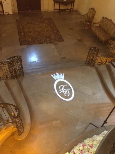 bride & groom wedding logo (gobo) light DJ ny