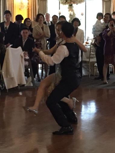 bride & groom dancing their first dance