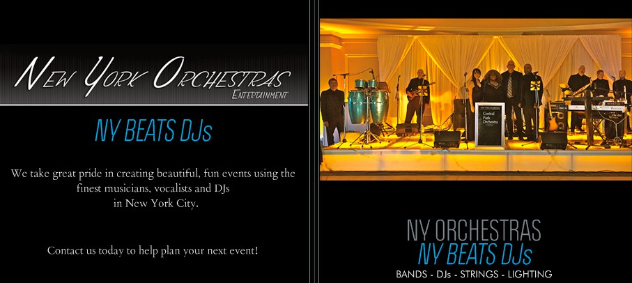 NY Orchestras NY Beats DJs for weddings