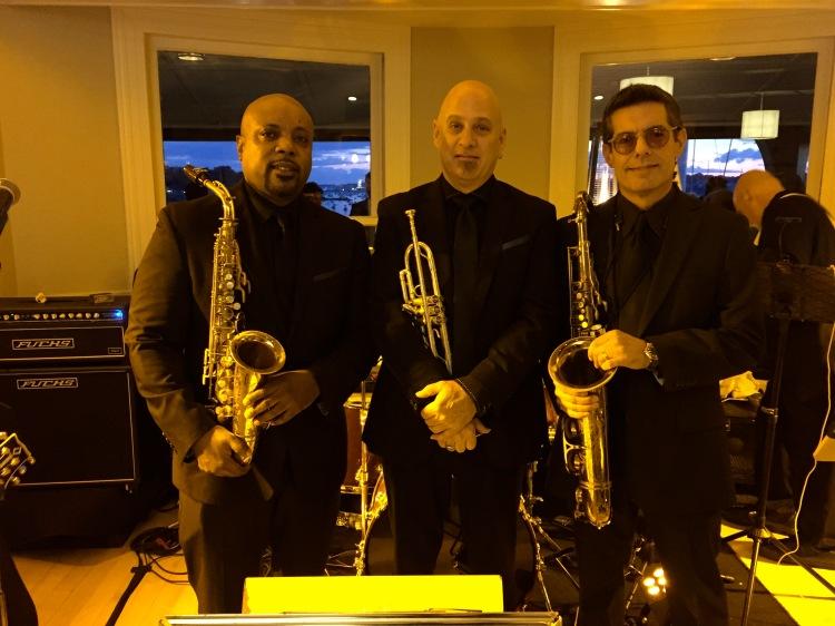 killer horn section at wedding