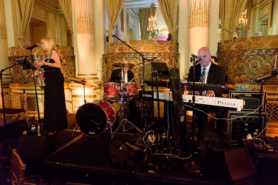 Jazz Quartet playing dinner set at Plaza Hotel
