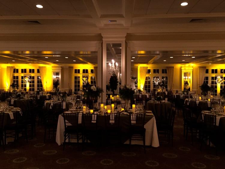 Greenwich Country Club ballroom with uplighting