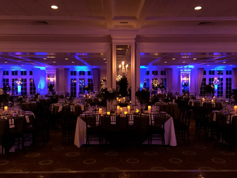 Greenwich Country Club ballroom with uplighting