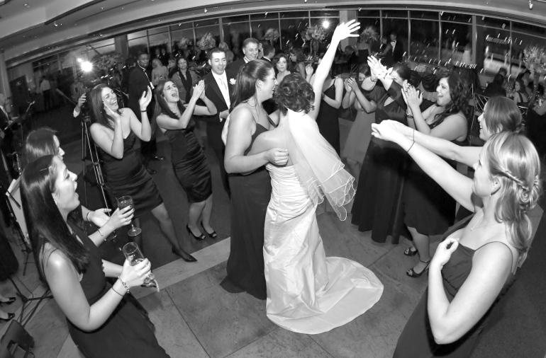 Bridesmaids Dancing at NY wedding